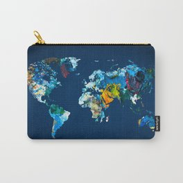 World Map 9 Carry-All Pouch