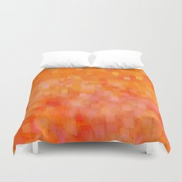 Citrus Hued Abstract Duvet Cover