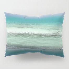 Twilight Sea in Shades of Green and Lavender Pillow Sham