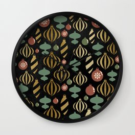 Chalkboard Christmas Pattern 01 Wall Clock