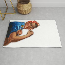 Black Lives Matter Rosie The Riveter Rug