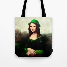 Lucky Mona Lisa - St Patrick's Day Tote Bag