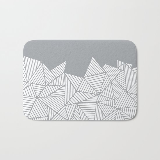Abstract Mountain Grey Bath Mat