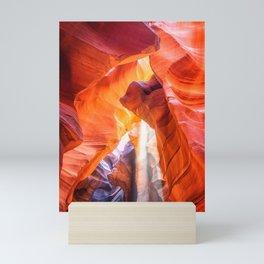 Ghostly light beam at Antelope Canyon Mini Art Print