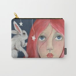 Red Head with Bunny Carry-All Pouch