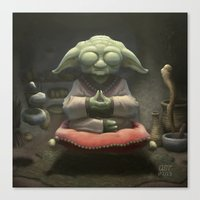 yoda Canvas Prints featuring Yoda by Andrew McIntosh