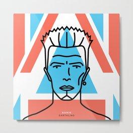 David Bowie & Alexander McQueen Metal Print