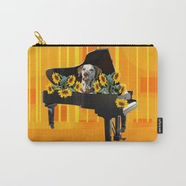 Piano with sunflowers and Dalmatian Carry-All Pouch