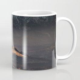 SNOW COVERED MOUNTAIN DURING NIGHT TIME Coffee Mug