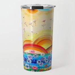 Flying dandelions Travel Mug