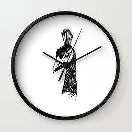 Palm Peacock Wall Clock