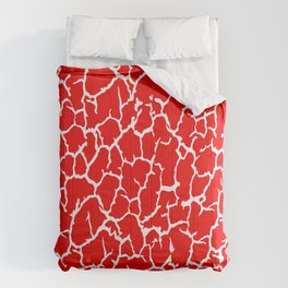 Classsic Red Cracked Paint Comforters