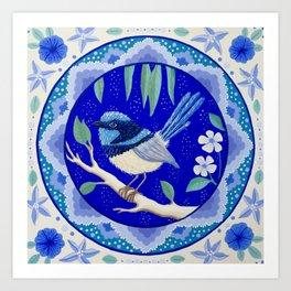 Blue Wren Beauty Art Print