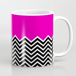 Flat Pink and Classic Chevron Coffee Mug