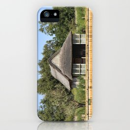 Horsey mere thatched cottage iPhone Case