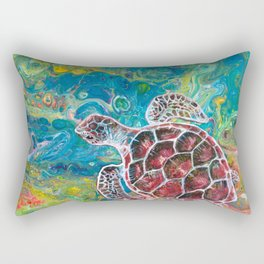 Sea Turtle Dream Rectangular Pillow