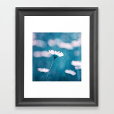 love in blue Framed Art Print