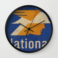 the national Wall Clocks featuring National Logo by Bruce Stanfield