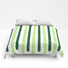 Green Color Stripes Comforters