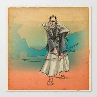 samurai Canvas Prints featuring Samurai by David Finley