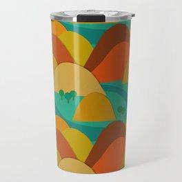 Mountains landscape pattern Travel Mug