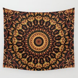 Autum Colors Mandala Wall Tapestry
