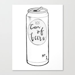 Can of Beers Canvas Print