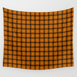 Small Dark Orange Weave Wall Tapestry