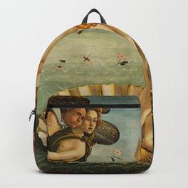 The Birth Of Venus Painting Sandro Botticelli Backpack