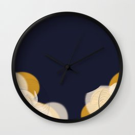 Clouds on Navy Wall Clock
