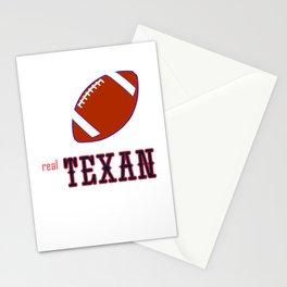 True Texan American Football Design black lettering Stationery Cards