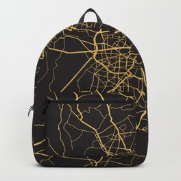 BERLIN GERMANY GOLD ON BLACK CITY MAP Backpack