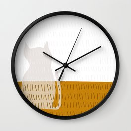 Coit Cat Pattern 3 Wall Clock