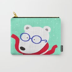 Hipster Polar Bear Carry-All Pouch