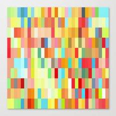 colorful rectangle grid Canvas Print