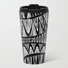 Original Creative black and white pattern illustration Travel Mug