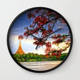 Blossoming View. Wall Clock