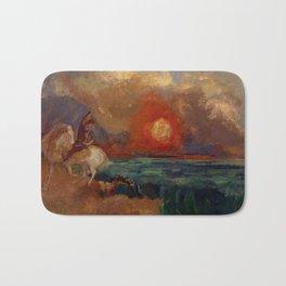 """Odilon Redon """"Saint George and the Dragon (Saint Georges et le dragon)"""" Bath Mat"""
