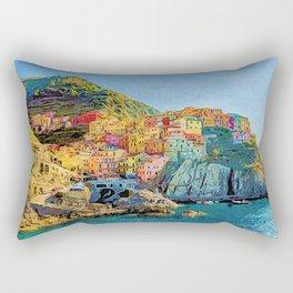 Cinque Terre, Italy | Painting Rectangular Pillow