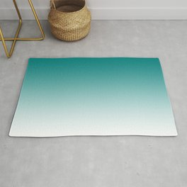 Simple Teal Ombre Rug