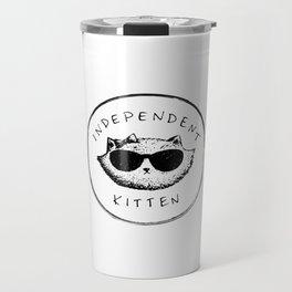 Independent Kitten Travel Mug