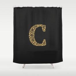 Floral Letter C Shower Curtain