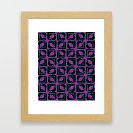 Tubes in Cubes on Lavender Framed Art Print