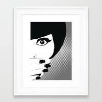 silent Framed Art Prints featuring silent by Ezgi Kaya