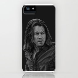 Eliot Spencer Greyscale iPhone Case