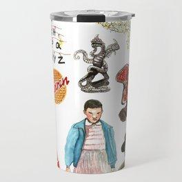 Strange 80's Retroclone of Various Things Travel Mug