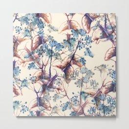 Blue vintage watercolor seamless pattern Metal Print