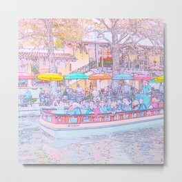 Ride Down The River - San Antonio, Texas Metal Print