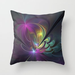 Do Not Go Away From Me, Abstract Art Throw Pillow