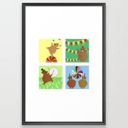 Circus Bears Set Framed Art Print